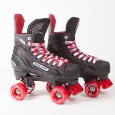 Bauer NS Quad Roller Skates - Sure-Grip Aerobic Outdoor Wheels