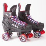 Bauer NS Quad Roller Skates - Airwave Wheels