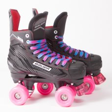 Bauer NS Quad Roller Skates - SFR Slick Wheels