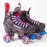 Bauer NSX Quad Roller Skates - Airwave Wheels