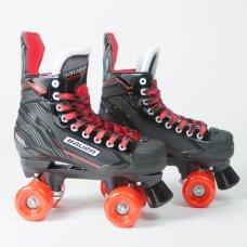 Bauer NSX Quad Roller Skates - SFR Slick Wheels