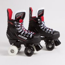 Bauer NSX Quad Roller Skates - Sims Street Snake Wheels - Mixed