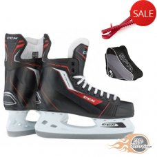 CCM Jetspeed 260 Hockey Ice Skates Package