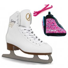 SFR White Galaxy Ice Skate Package With Graffiti Bag