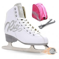 Rio Roller Script Ice Skates Package - White