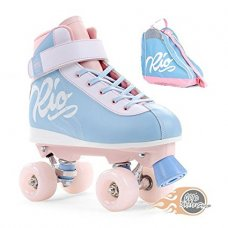 Rio Roller Milkshake Cotton Candy Quad Roller Skates With Skate Bag