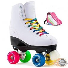 Rio Roller Figure Quad Roller Skates White With Bag