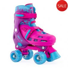 SFR Hurricane Kids Adjustable Quad Skate Pink/Blue
