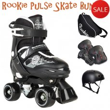 Rookie Pulse Adjustable Kids Quad Skate Bundle - Saving of £10