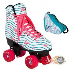 Rookie Flamingo Quad Roller Skates With Matching Bag