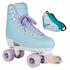 Rookie Bubblegum Quad Roller Skates With Flamingo Bag