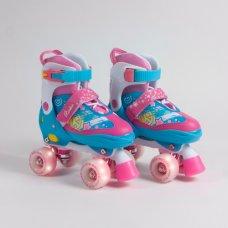 Rookie Adjustable Fab Quad Roller Skates With Light Up Wheels