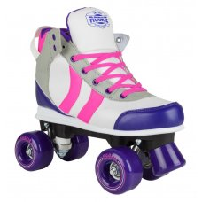 Rookie Quad Roller Skates Deluxe Pink/Grey/Purple