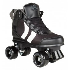Rookie Quad Roller Skates Deluxe Black/White/Grey