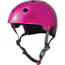 Triple 8 Brainsaver Helmet with EPS Liner - Metallic Pink