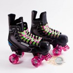 Bauer Nexus N5000 Quad Roller Skates - Playmaker. CUSTOM Ventro Wheels