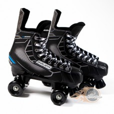 Bauer Nexus N5000 Quad Roller Boots SFR Slick Wheels