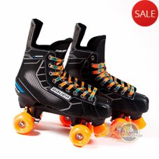 Bauer Nexus N5000 Quad Roller Skates - Playmaker. CUSTOM Ventro Wheels