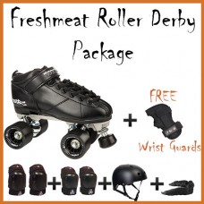Rookie Raw Roller Derby Quad Skate Starter Pack
