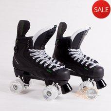 Reebok RibCor 24K Pump Quad Skates - Light Up Wheels - Bauer Style