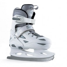 SFR Eclipse Adjustable Ice Skate - White