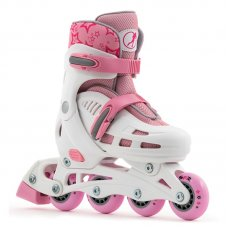 SFR Children's Adjustable Spirit Inline Roller Skates - Pink/White