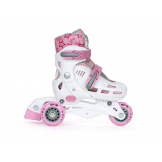 SFR Children's Adjustable Spirit Tri-Skate - Pink/White