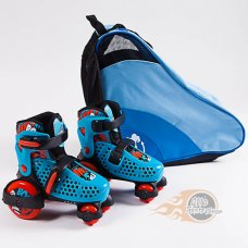 SFR Stomper Boys Adjustable Quad Skates with Skate Bag