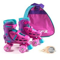 SFR Lightning Hurricane Adjustable Light Up Roller Skates with Skate Bag