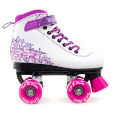 SFR Vision II Childrens Quad Skates - White/Purple