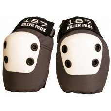 187 Killer Elbow Slim Pads Grey/White