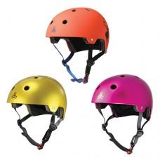 Triple 8 Brainsaver Helmet with EPS Liner - Pink, Gold & Orange