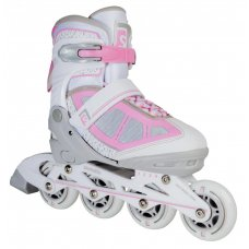 Skatelife Inline Adjustable Children's Roller Skates - Lava - Pink/White