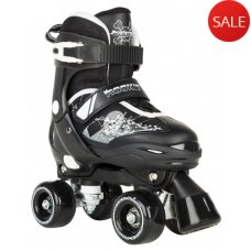 Rookie Pulse Adjustable Kids Quad Skates - Black