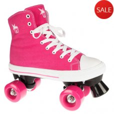 Rookie Canvas High Quad Roller Skate Pink