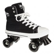Rookie Canvas High Quad Roller Skate Black