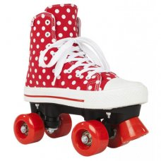 Rookie Canvas High Quad Roller Skate Polka Dot