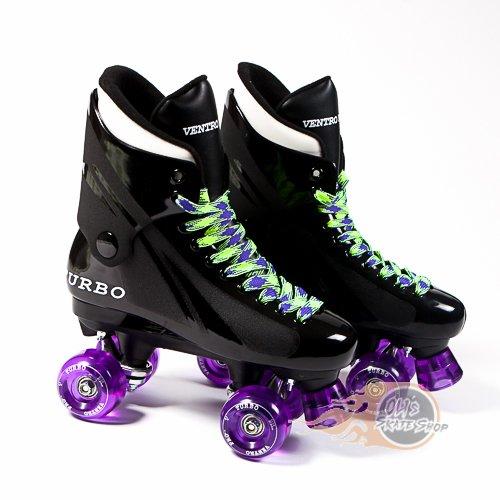 Bauer Style Black White Ventro Pro Turbo Quad Roller Skate