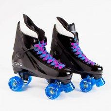 Ventro Pro Turbo Quad Roller Skates - Blue Pink