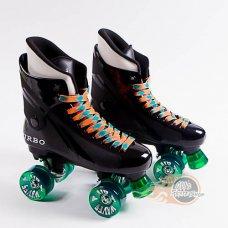 Ventro Pro Turbo Quad Roller Skates - Green