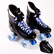 Ventro Pro Turbo Blue Quad Roller Skates with Large Skate Bag - SAVE £5